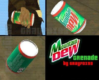 "Granada de ""Moutain Dew"" para GTA San Andreas"