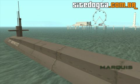 Mod do submarino para GTA San Andreas