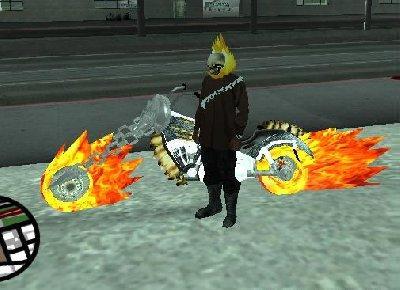 Mod Do Motoqueiro Fantasma Para GTA San Andreas