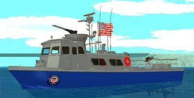 Barco de patrulha da Guarda Costeira