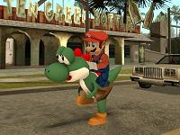 Yoshi do Super Mario para GTA San Andreas