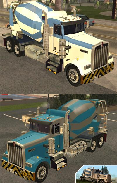 Caminhão Kenworth W900 CEMENT TRUCK para GTA San Andreas | Site do ...