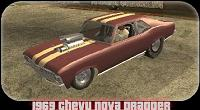 Chevrolet Nova PS Dragger 1969 pata GTA San Andreas