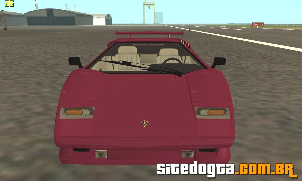 lamborghini countach 25th anniversary para gta san andreas site do gta. Black Bedroom Furniture Sets. Home Design Ideas
