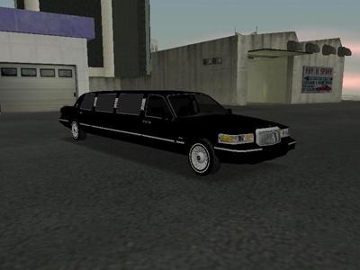 Carro Lincoln Town Car Limousine 1997 para GTA San Andreas