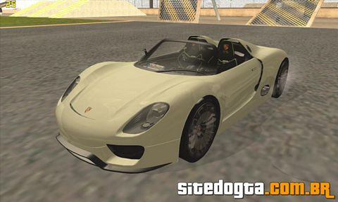porsche 918 spyder concept study para gta san andreas site do gta. Black Bedroom Furniture Sets. Home Design Ideas