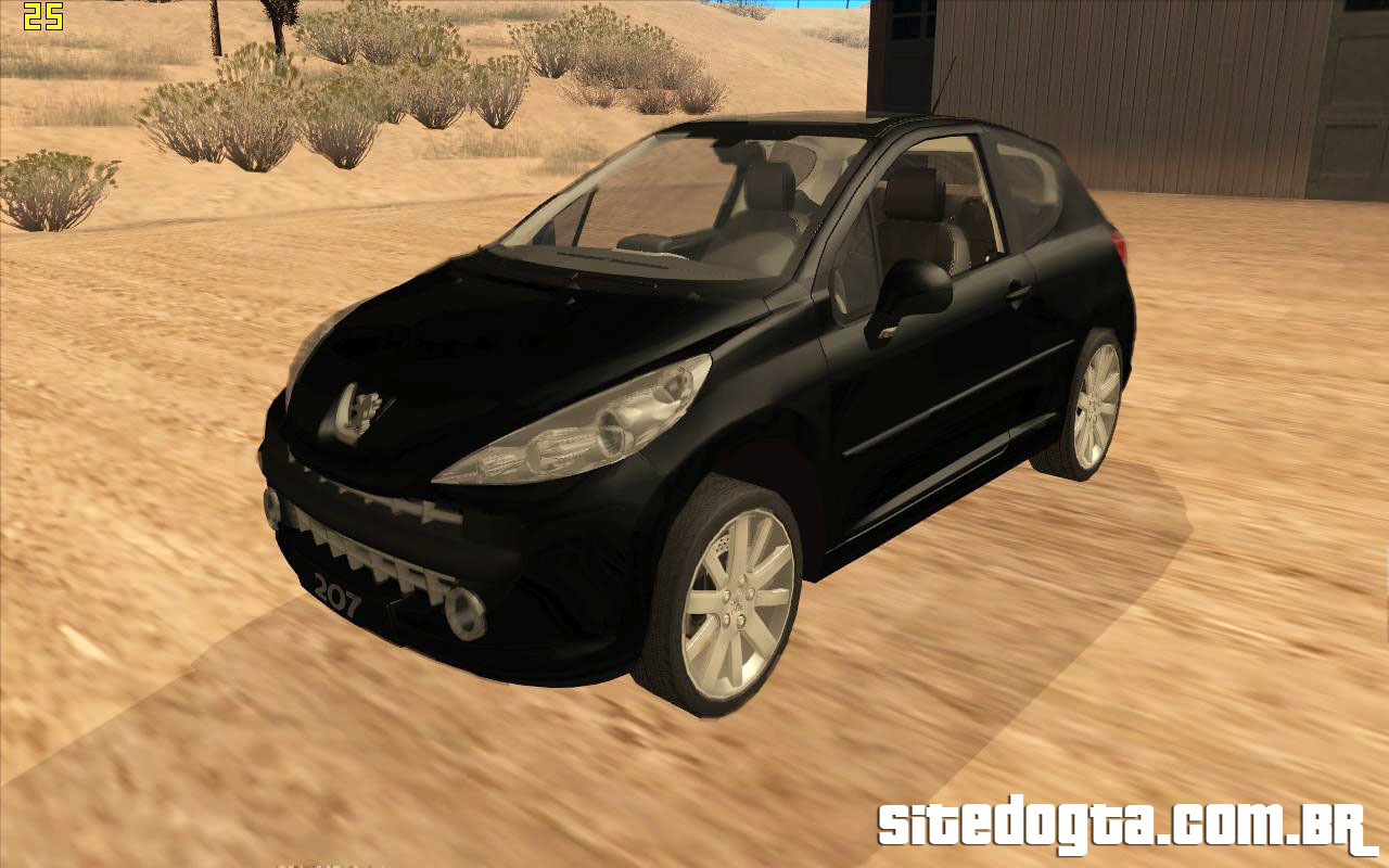 peugeot 207 griffe para gta san andreas site do gta. Black Bedroom Furniture Sets. Home Design Ideas