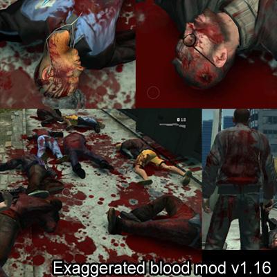 Exagero de sangue (Exaggerated blood mod)