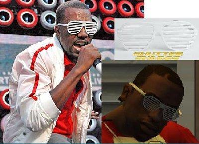 Óculos Kanye West para GTA San Andreas
