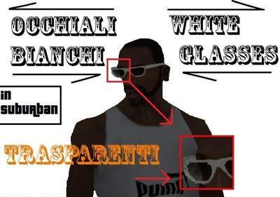 Óculos Branco para GTA San Andreas